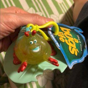 Disney a bug's life Heimlich plastic keychain NWT